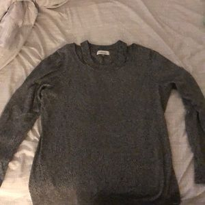 Heather grey pull over sweater
